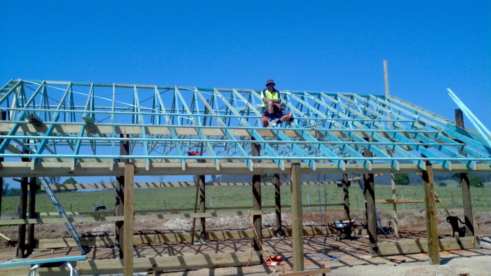 pole barn roof construction